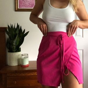 NWOT missguided Pink wrap skirt
